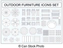 Clipart Of Floor Plan Of Onebedroom Condo K5646482  Search Clip Furniture Clipart For Floor Plans