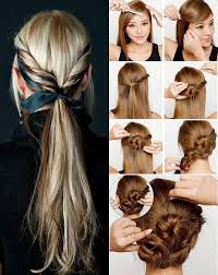 how to make easy hairstyles for long hair at home