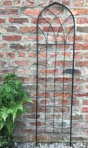 garden trellis metal plant privacy