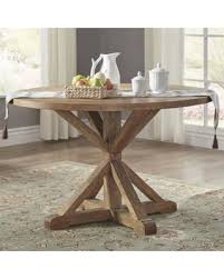 deal alert benchwright rustic x base 48 inch round dining table set in inspirations 1