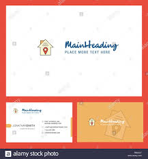 Front Logo Design House Location Logo Design With Tagline Front And Back