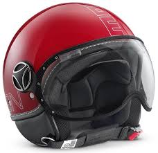 Momo Design Jet Helmet Momo Fgtr Glam Red Motorcycle