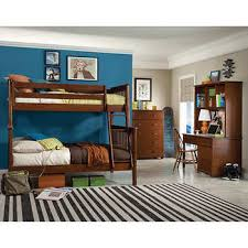 Mission 3-piece Twin over Full Bunk Bed Set with Desk and Hutch