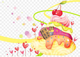 ice cream torte dessert animation desktop wallpaper cartoon hand drawn animation background
