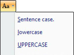 case of your text in word 2007