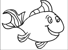 Blank Fish Coloring Page Printable Coloring Sheet Anbu Clip