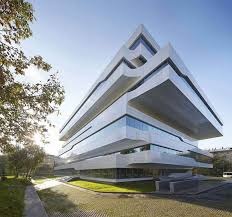 Office facade design Innovative Alucobond Zaha Hadid Designs Commercial Office Structure Clad In Alucobond Plus