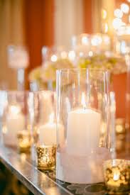 mercury gl and candles wedding decor