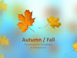 Free Fall Powerpoint Autumn Themed Powerpoint Template Fall Themed Powerpoint Templates