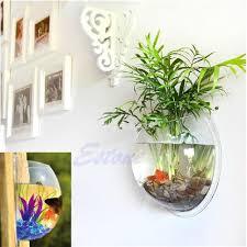Decorative Fish Bowls Home Decoration Pot Plant Wall Mounted Hanging Bubble Fish Bowl 51