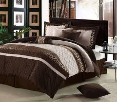 image of chocolate brown and cream bedding