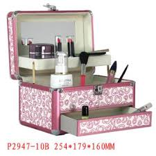 nice makeup box with trays drawers