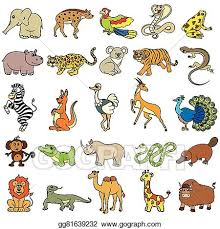 zoo animal clipart cute. Modren Zoo Cute Zoo Animals Collection On Zoo Animal Clipart