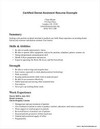 Dental Resume Template Best of Resume Template For Dental Assistant Resume Resume Examples Resume
