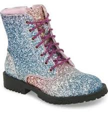 New! Kids Sam Edelman Girls Polly Sophia Ankle Zipper Rainbow Ombre Glitter  sz 4 | eBay