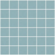 2x2 inch robins egg blue frosted glass tile