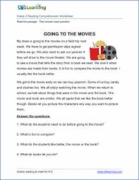 2nd grade reading prehension worksheet