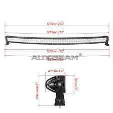 auxbeam 50 inch 288w cree curved spot flood off road led light 50 inch 288w cree curved spot flood off road led light bar 5d projector