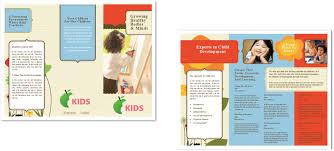 Sample Preschool Brochure Child Care Brochure Template 24 Child Care Owner 19