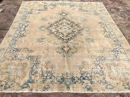top vintage cream or gold area rug 10 14