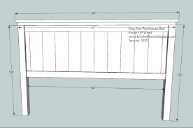 king size head board ana white farmhouse king bed plans diy projects