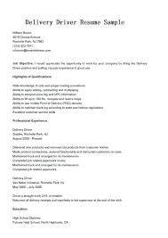 Delivery Driver Resume Examples Delivery Driver Resume Sample Classy Resume For Drivers Free For