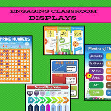 68 Math Posters Charts Displays For Classrooms 23 Numeracy Concepts