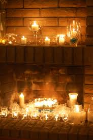 marvelous candles in fireplace pictures design ideas andrea outloud