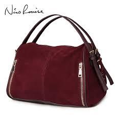 Original Design Bags Us 30 75 50 Off Nico Louise Women Real Split Suede Leather Boston Bag Original Design Lady Shoulder Traveling Doctor Handbag Top Handle Bags Sac In