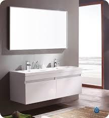 fresca largo white modern bathroom vanity w wavy double sinks