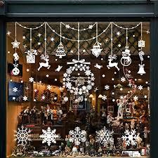 Wokkol Fensterbilder Weihnachten Selbstklebend Schneeflocken Fensterdeko Fensterbild Weihnachten Weihnachts Fensterbilder Für Türen Schaufenster