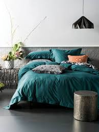 feel cool and warm at the same time with linen house elka deep teal quilt cover set this linen range is tailored fit for any bedroom choice