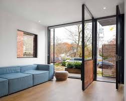 Simple Open Front Door From Inside Contemporary Floorinterior In Decor