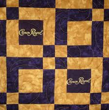 royal crown quilts designs | crown royal bag quilt patterns image ... & Small Lap Sized Crown Royal Quilt Made from Your Bags Adamdwight.com