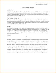 Writing An Abstract Or Research Paper Apa Style Sample Scientific