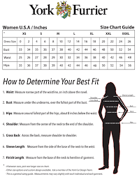 Neck And Sleeve Size Chart Womens Size Chart