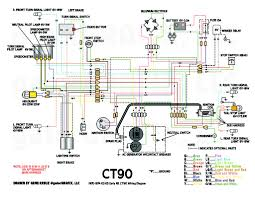 1970 1974 k2 k5 early k6 ct90 stock wiring diagram in the repair image