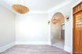 light grey walls white trim living room