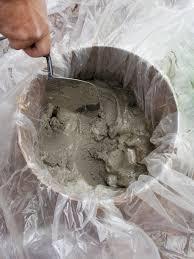 step 6 add mortar mix mortar