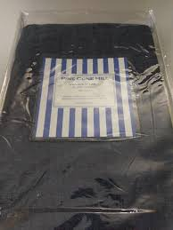 pine cone hill chambray linen twin ink indigo blue duvet cover new