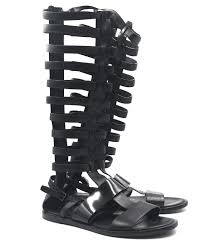 women s black benton leather gladiator sandals
