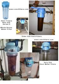 In Home Water Filtration Identify Old U25 Omni Filter Whole House Water Filters