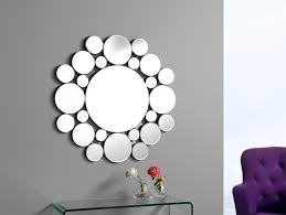 Adding Multiple Little Mirrors Instead Of One Large Mirror Adds Modern Mirrors For Living Room