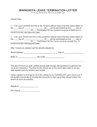minnesota lease termination letter form day notice pdf minnesota lease termination letter form 30 day notice pdf word fillable forms