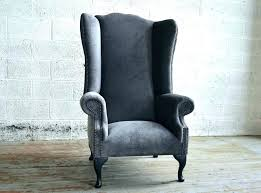 gray wingback chair. Set Of Two Chairs Grey Wingback Chair Gray Wing Handmade . Reviews