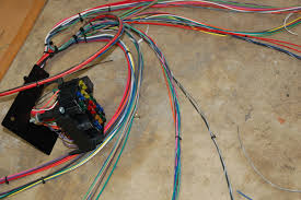 wiring harness installation in our garage installing a new wiring harness hemmings daily harness and fuseblock
