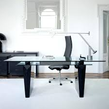large glass office desk. Shaped Home Office Desks Modern Desk Intended Large Glass Furniture Collections L Depot Top Max R
