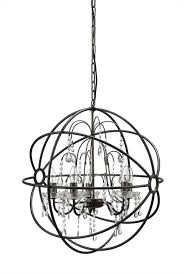 big round iron and steel ball chandelier classic vintage ceiling light fixture