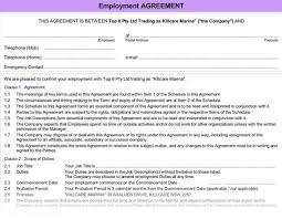 employment reviews company agreements agreement employee form