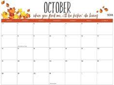 Printable October Calendar 106 Best October 2018 Calendar Printable Images